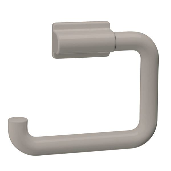 0300303 - Plastic Single Toilet Roll Holder in Light Grey