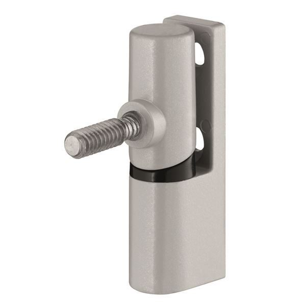 0330012N - Universal Metal Hinge - Light Grey (Coarse Thread)