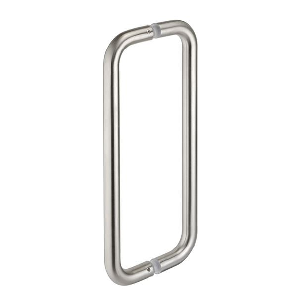 0182232 - Pair of Cubicle Door Pull Handles - Satin Stainless Steel (400mm)