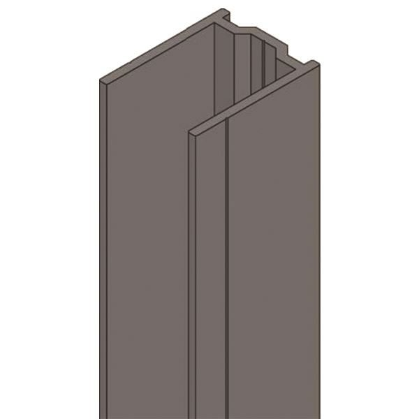 0630023C2 - UNIVERSAL 2000MM U-CHANNEL PACK - DARK GREY 19MM (MFC & HPL)