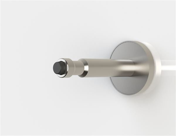 CH90T - MFC / HPL / CC Cubicle Coat Hook - Stainless Steel (90mm)