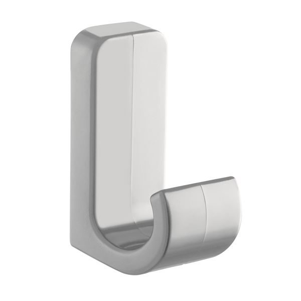 0300139 - Plastic Coat Hook - Light Grey